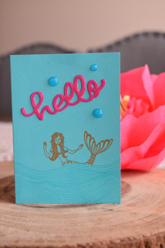 3 Hand Stamped and Embossed Note Cards