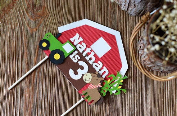 Farm Theme Cake topper with Extras