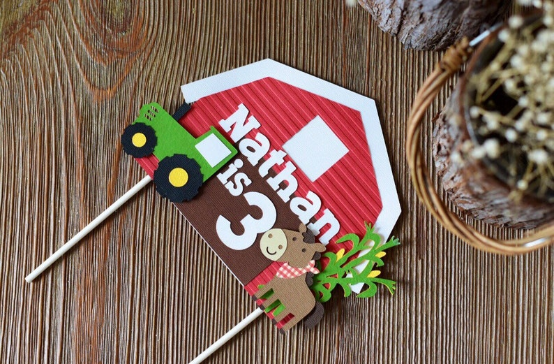 Farm Theme Cake topper image 0