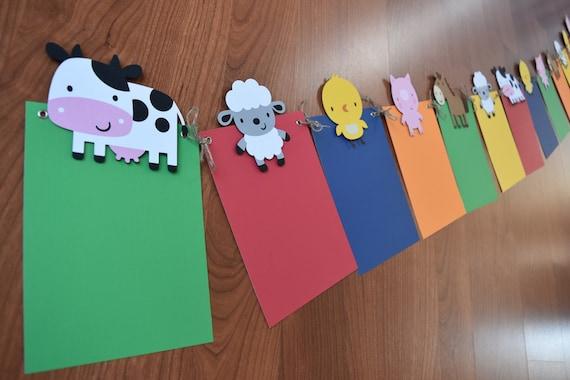 Farm Animals Month Banner, Farm/Farm Theme Party