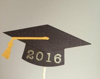 2018 Graduation cap cupcake toppers, graduation Theme Party