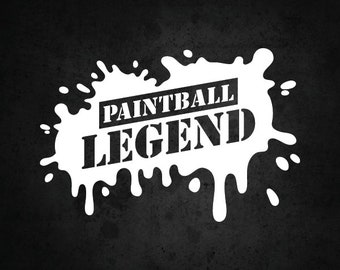 Paintball decal | Etsy