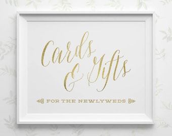 Printable Wedding Signs Wedding Cards And Gifts Sign Black Etsy