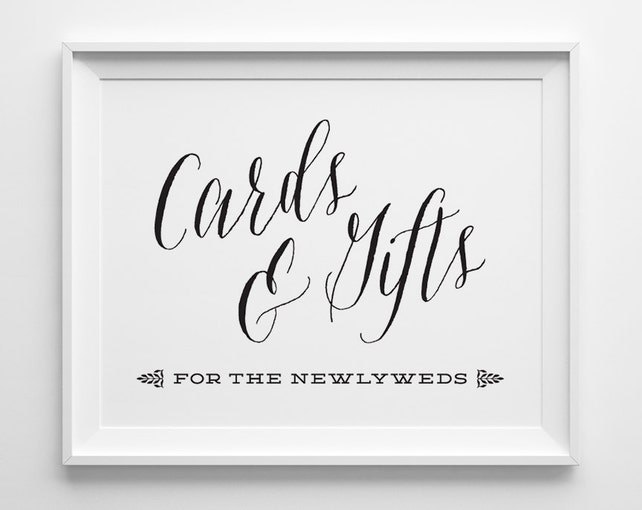 Wedding Signs Wedding Cards And Gifts Sign Gift Table Sign Black