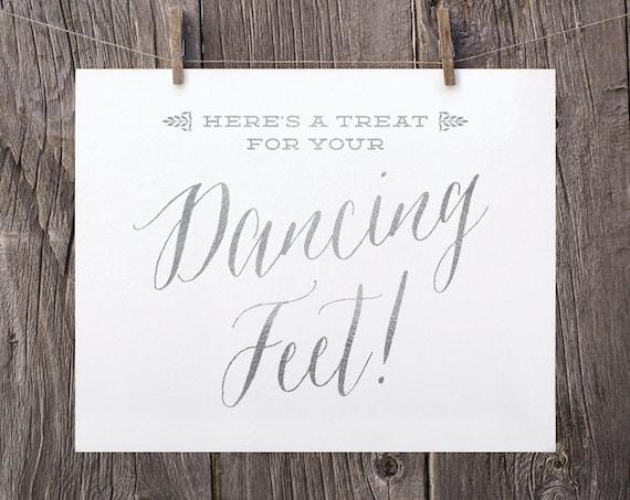 0934b4b403786 5x7 Nautical Wedding Printable Sign Flip Flop Basket Dancing