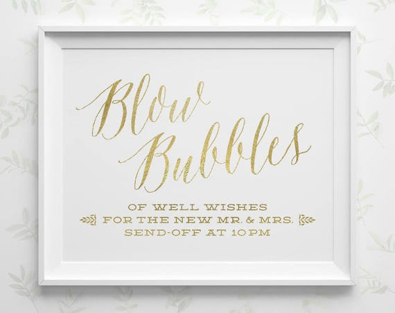 printable wedding signs bubble send off sign wedding bubbles etsy