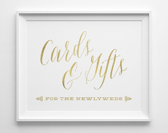 Wedding Gift Cards Online: Wedding Signs Gold Wedding Cards And Gifts Sign Newlyweds