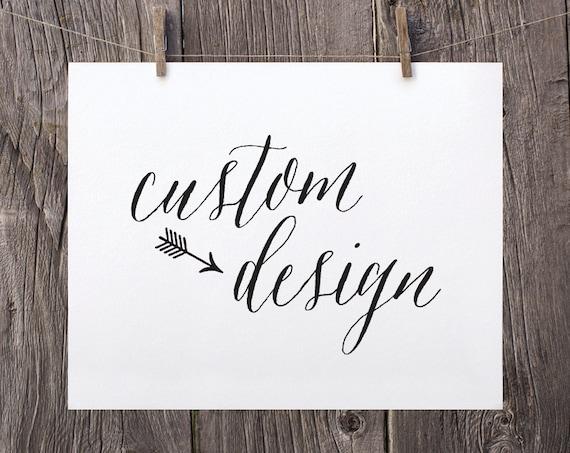 Custom Invitation Design Printable With Custom Design By Etsy