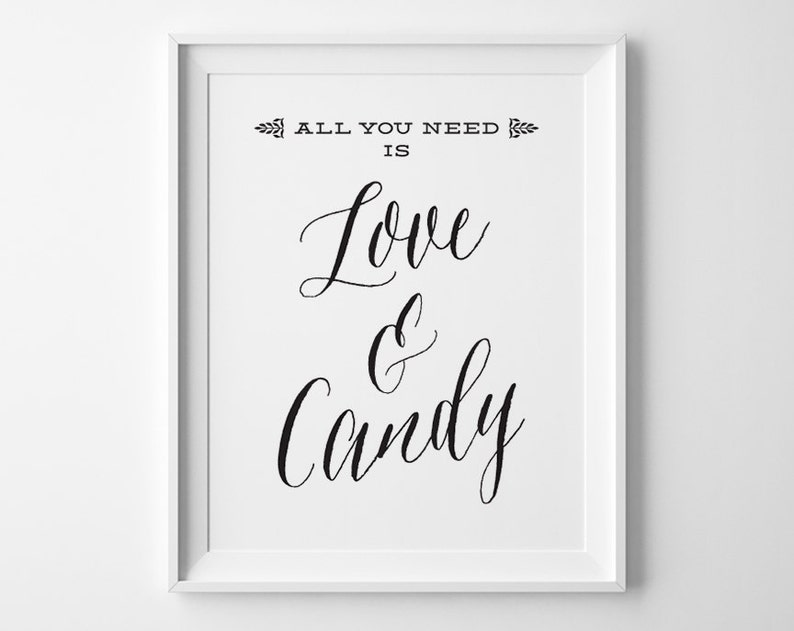 Excellent Wedding Candy Bar Sign Candy Table Sign All You Need Is Love And Candy Black And White Wedding Signs Rustic Wedding Reception Sign Ws1B Interior Design Ideas Tzicisoteloinfo