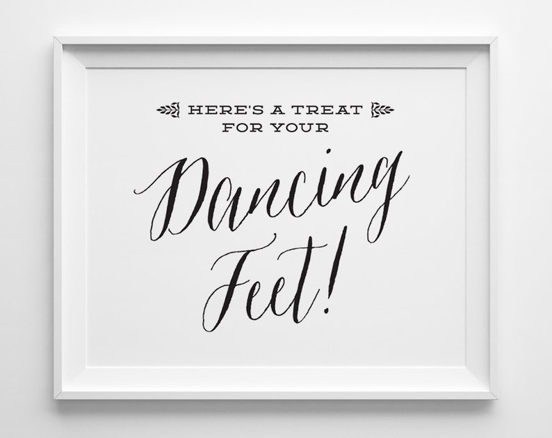 be5b1787db09 Wedding Flip Flop Basket Sign Wedding Signs Heres a Treat