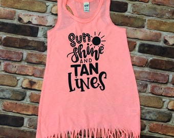 Sunshine and tan lines / fringe dress