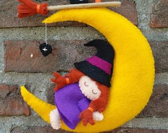 Rockabye Baby Witch  - DIY felt kit - Owlscitycreations