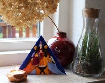 Nativity triangle - DIY felt kit
