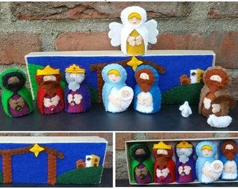 PDF pattern - Nativity scene in a box