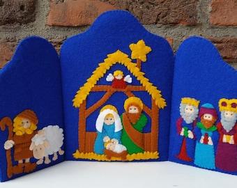 Nativity triptych - DIY felt kit