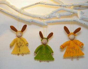 Easter bunnies - DIY felt kit - Olwscitycreations