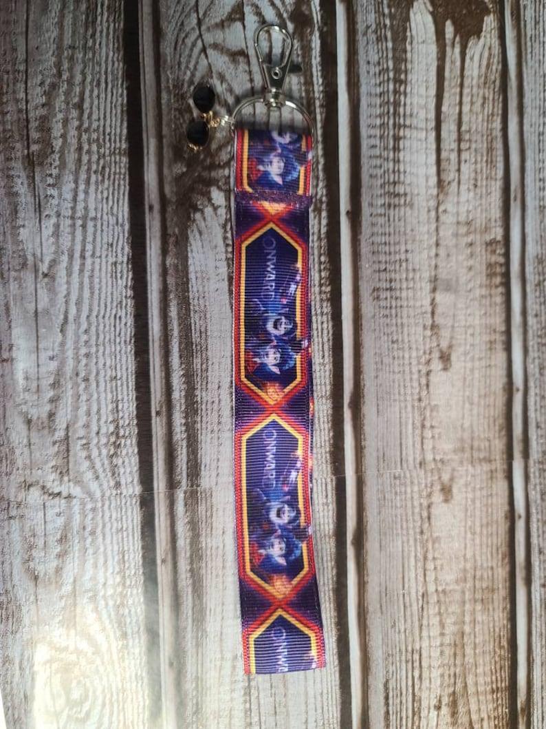 wristlet Keychain with charm Onward small lanyard