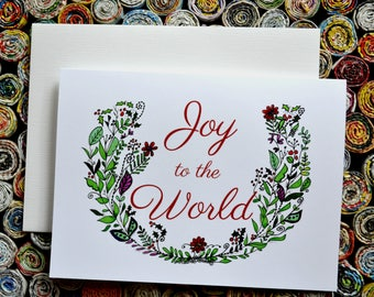Joy to the World. Holiday Card.
