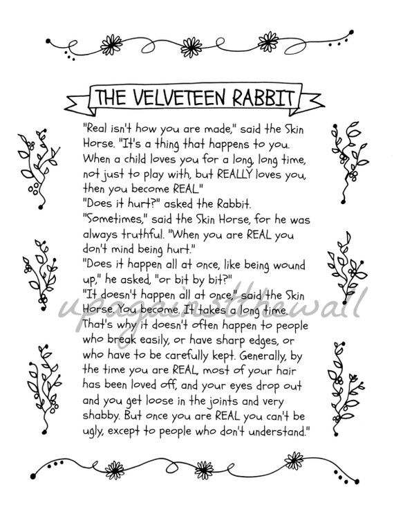The Velveteen Rabbit Quote