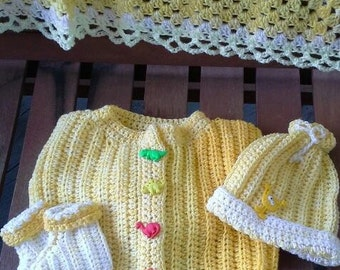Daffodil Sweater Layette Set