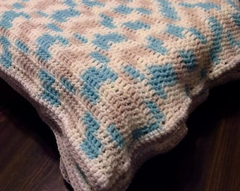 Baby Blanket in Popsicle Blue Ombre