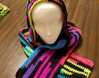 Neon Stripes Scoodie