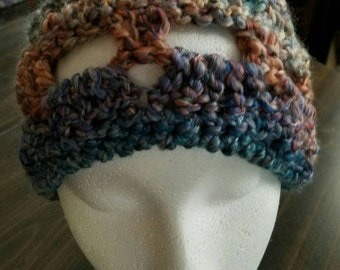 Open Weave Ponytail Hat