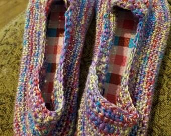 Multi colored sandal with flip flop soles