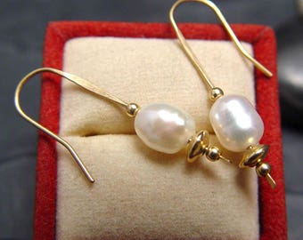 Pearl Earring Dangles on 14K GF Classic Now On SPECIAL Sale Now
