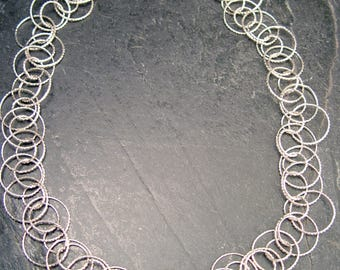 CIRCLES In Circles Sterling Silver Necklace Multiple Hoop in Hoops Design