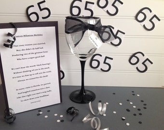 Milestone Birthday Tribute Poem Custom Toast 60th 65th 70th 80th