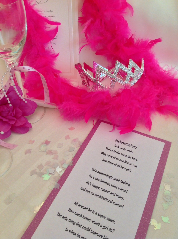 Weddings Bachelorette Party Bachelorette Party Toast/Poem   Etsy