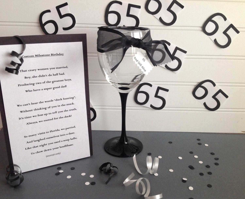 Milestone Birthday Tribute Poem Custom