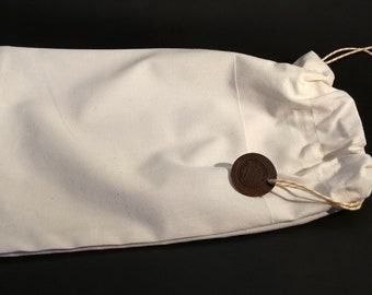 Drawstring Calico bag to store and protect Leather TN covers.