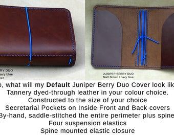 JUNIPER BERRY DUO Traveller's Notebook range. Midori, Field Notes, Moleskine, Rhodia, Stamford. Passport/Pocket/A6/Slim.