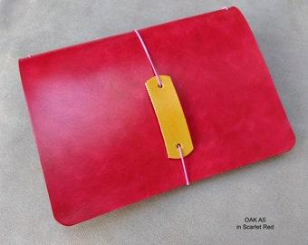 OAK Traveller's Journal range. Midori, Field Notes, Moleskine, Rhodia, Stamford. Passport/Pocket/A6/B6/A5. Choose many custom options.