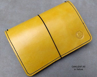 OAKLEAF Traveller's Journal range.  Midori, Field Notes, Moleskine, Rhodia, Stamford. Passport/Pocket/A6/B6/A5. Many custom options.