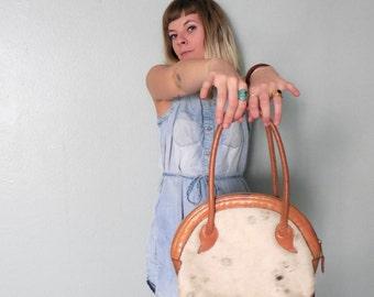 Cowhide leather southwestern shoulder bag