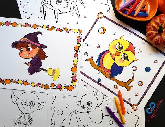 Halloween Coloring Pages Montessori Activity Preschool