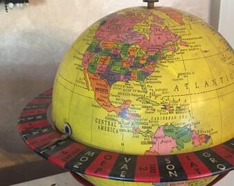 """Vintage 8"""" Replogle Globe Game Roulette Spinner - RARE"""