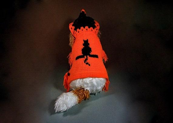 Pet Sweater, Pet Hoodie, Pet Jacket, Cat Clothing, Dog Clothing, Pet Poncho for Cat, Dog, or Other Pet, Original Design, Black Rose Accent