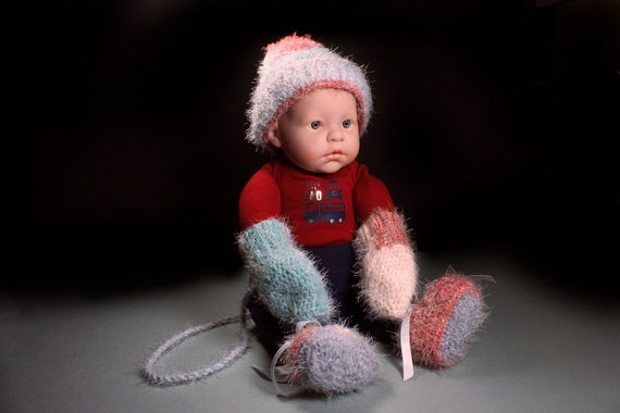 Baby Winter Hat Set, Winter Baby Hat, Mittens, Booties, Crochet, Baby Clothes, Baby Accessories, Baby Shower Gift, Baby Gift