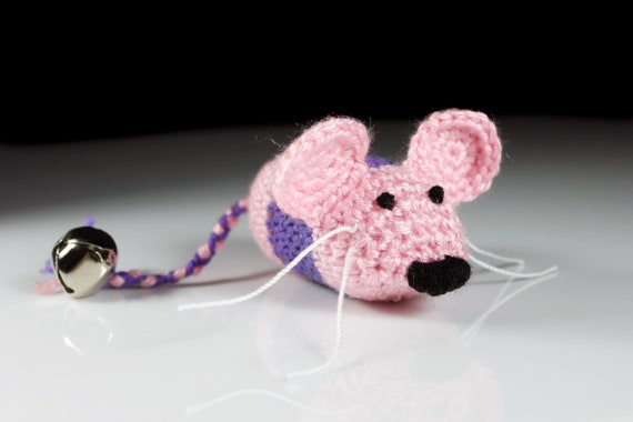 Non-Catnip Crocheted Mouse, Ornament, Home Decor, Present Adornment, Amigurumis