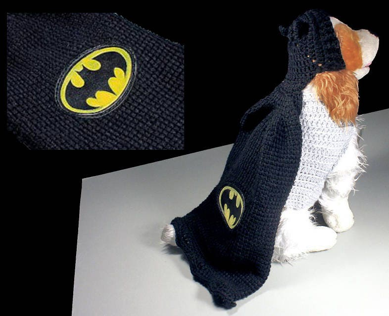 Batman Pet Costume Halloween Costume Dog Costume Cat Costume Superhero Costume Crochet Photo Prop Fits 10 to 20 lb. Pet & Batman Pet Costume Halloween Costume Dog Costume Cat Costume ...