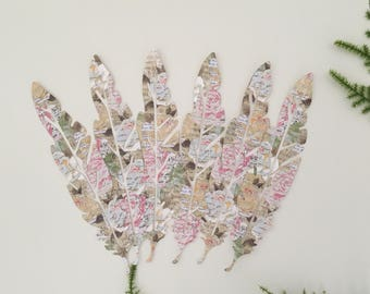 Shabby Chic Die Cut Feathers