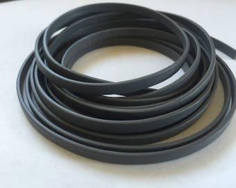 """5mm Flat Italian Grey Leather - price per 24"""""""