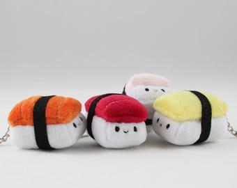 TINY Nigiri Sushi Plush Keychain - Food