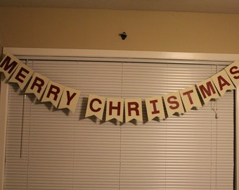Merry Christmas Photo Prop Banner