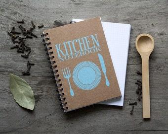 """4x6"""" Recipe book, spiral notebook, kitchen recipe organizer, kraft paper notebook, pocket notebook, blank book, kitchen accessories favor"""