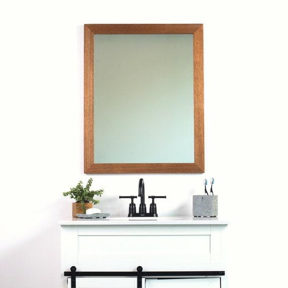 charming Etsy Vanity Mirror Part - 12: 30x42 African Mahogany Bathroom Vanity Mirror Wide Wall | Etsy